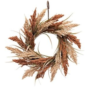 Holiday - Wheat Spiral Wreath